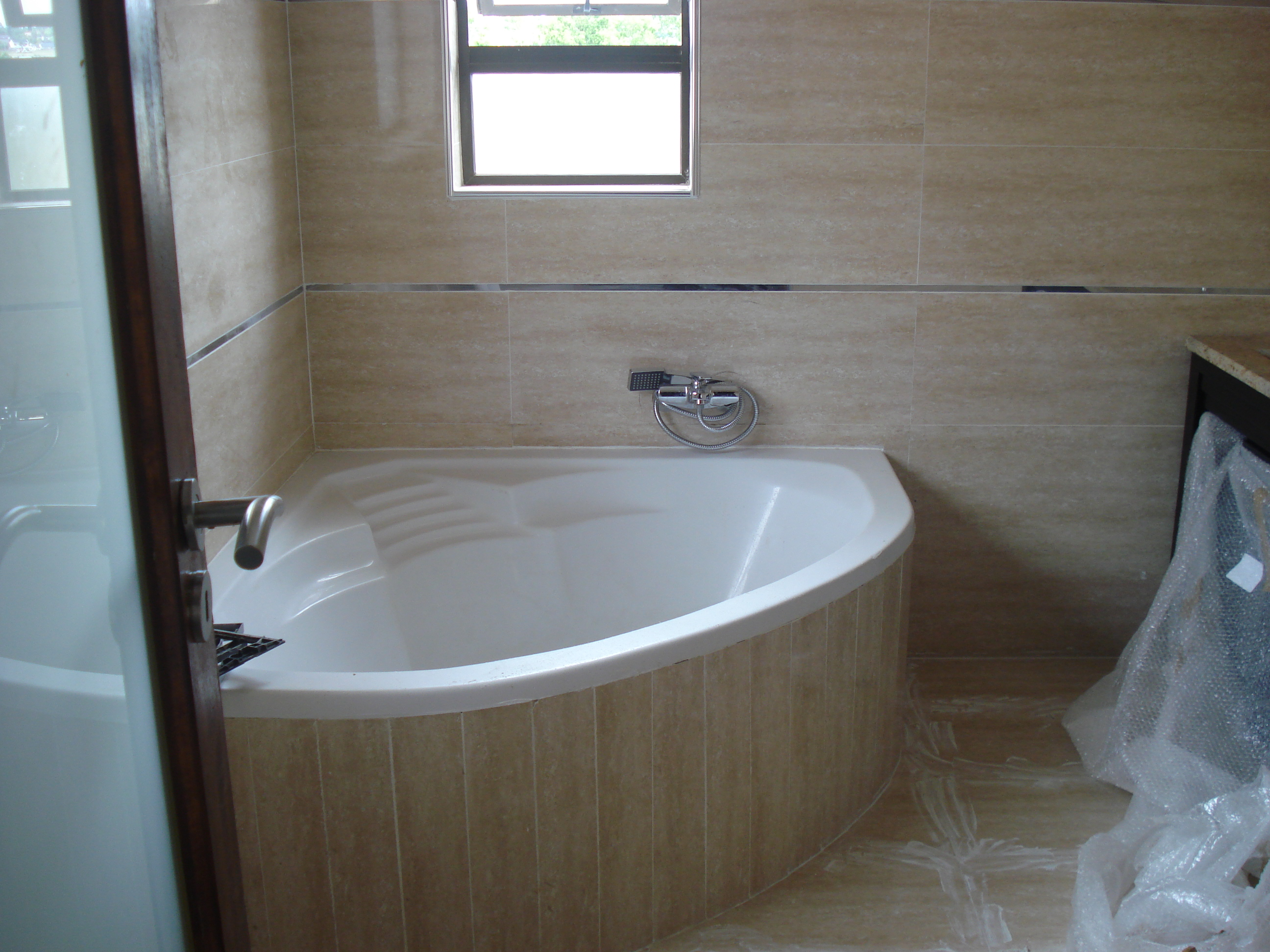 combination yellow pin wall plus waterfall with oval design combo bathtub tub stylish corner paint white ideas soft shower bathroom and admirable